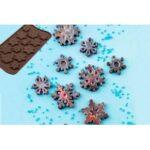 molde silicone flocos de neve chocolate- 6.5€