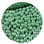 pérolas verde metalizado